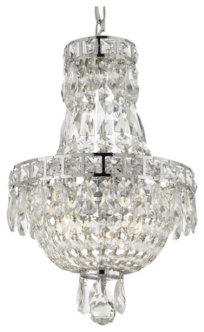 French Empire 3-Light Crystal Chandelier
