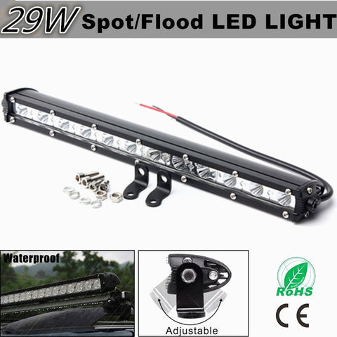 13Inch Flood Spot Beam Car Slim LED Work Light Bar LED Lamp Truck Offroad Drivin g Vehcile