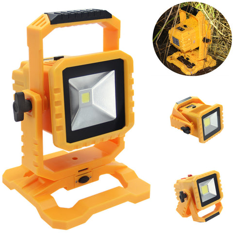 IP65 Dimmable 20W LED Rechargeable Floodlight for Outdoor Camping Hiking Work Lighting