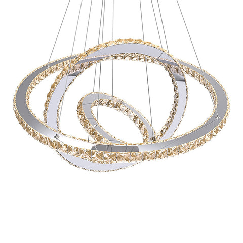 Modern Chandelier LED Crystal Ring Chandelier Ring Crystal Light Fixture Light Suspension