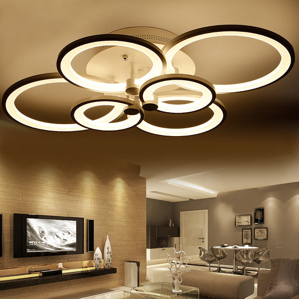 modern chandeliers for living room rings white finished chandeliers led circle modern 21491