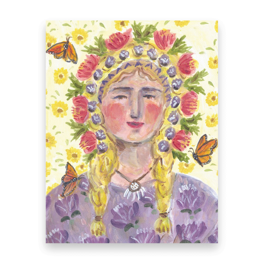 Butterfly Woman | Postcards