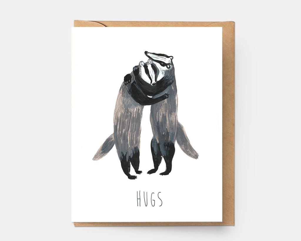 Badger Hugs | Greeting Card E-108