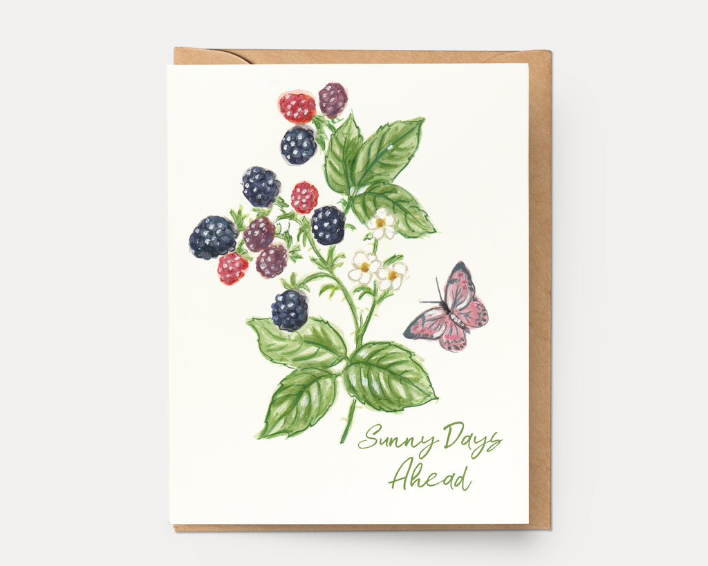 Blackberry Sunny Days Ahead | Greeting Card BOT-107