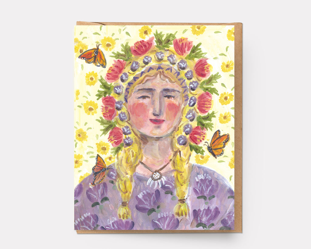 Butterfly Woman | Greeting Card U-124