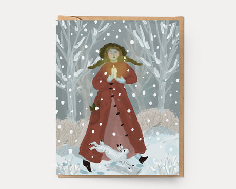 Caroling in the Snow | Greeting Card H-110