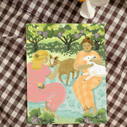 Vineyard Goat Picnic Card