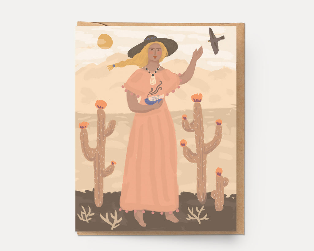 Desert Woman | Greeting Card U-130