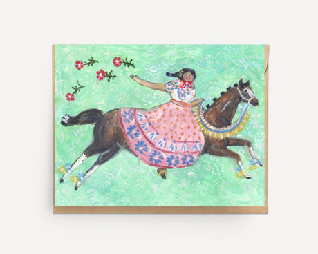 Festival Horse | Greeting Card U-122