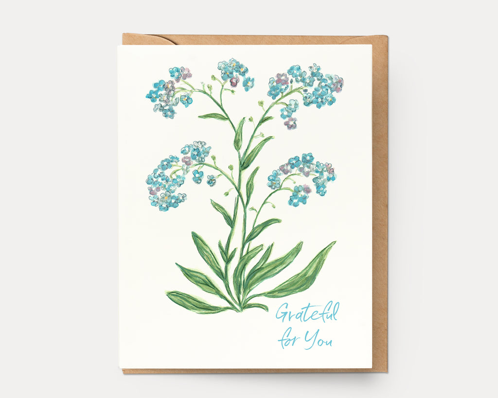 Forget-Me-Not Grateful for You | Greeting Card BOT-108