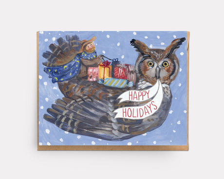 Gift Owl | Greeting Card H-102