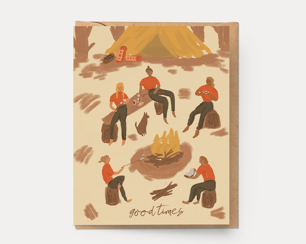 Good Times Campfire | Greeting Card L-104 Love & Friendship