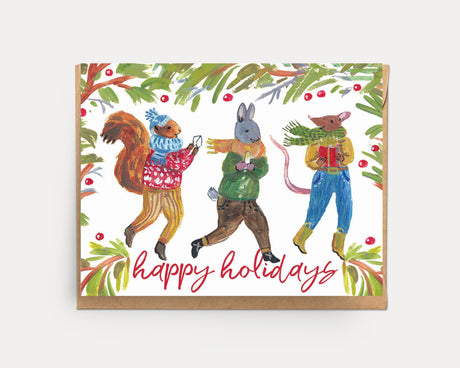 Holiday Animals | Greeting Card H-101