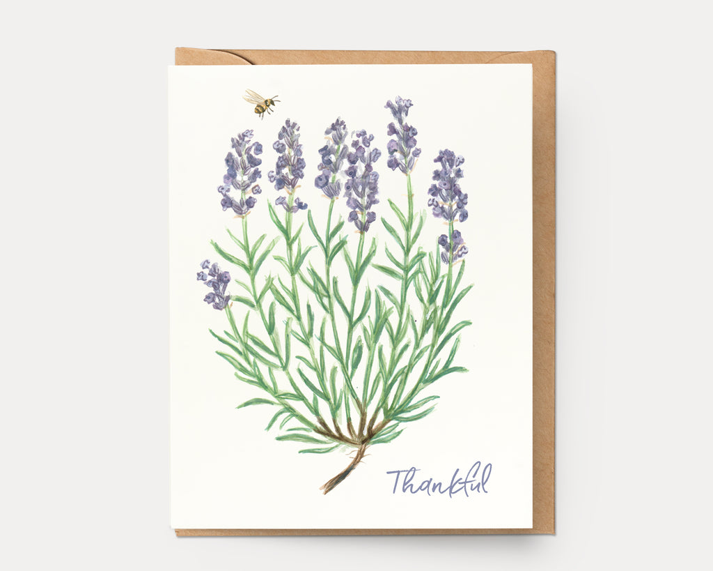 Lavender Thankful | Greeting Card BOT-109