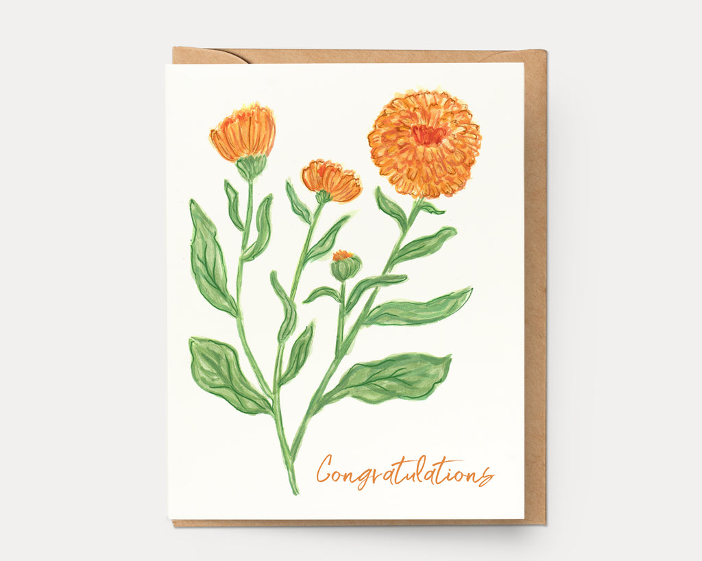 Marigold Congrats | Greeting Card BOT-110
