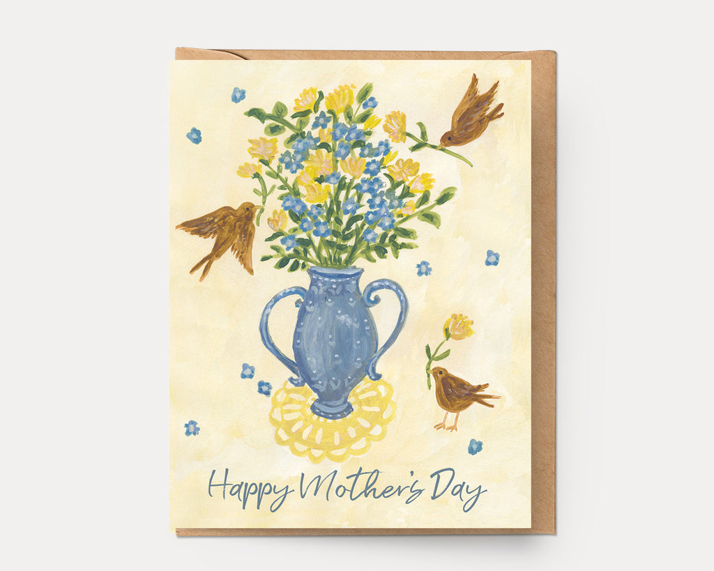 Mother's Day Flowers | Greeting Card H-111