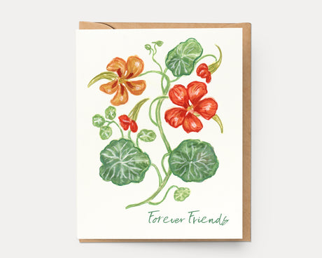 Nasturtium Forever Friends | Greeting Card BOT-112