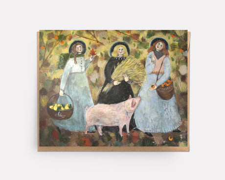 Persimmon Parade | Greeting Card U-104