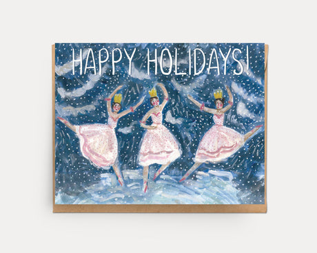 Snow Dancers | Holiday Greeting Card H-103