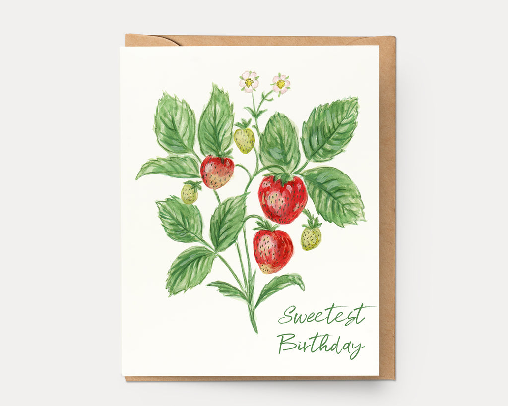 Strawberry Birthday | Greeting Card BOT-101