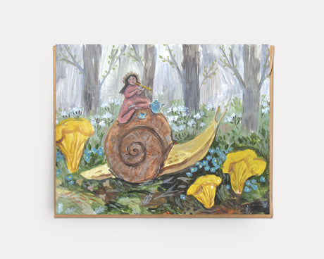 Tea on a Snail | Greeting Card U-135