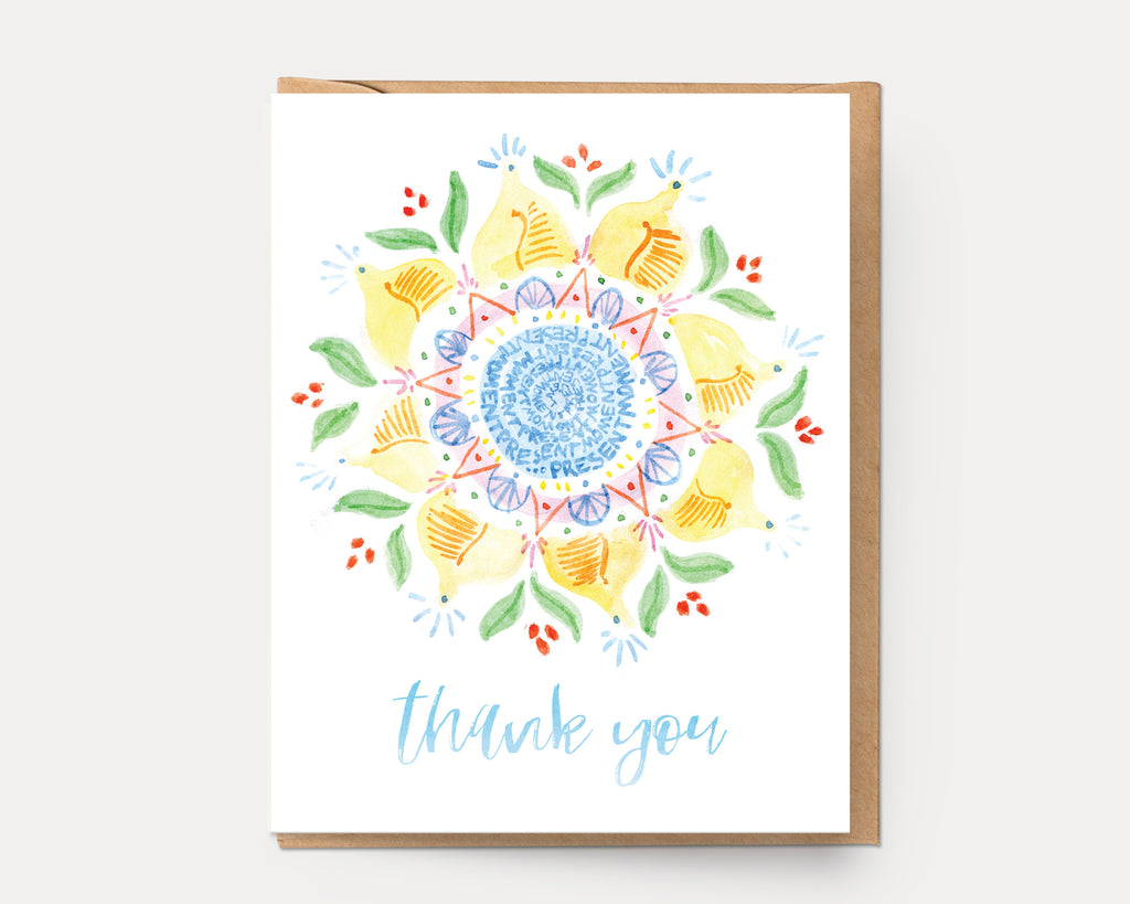 Thank You Mandala #6 | Greeting Card M-112