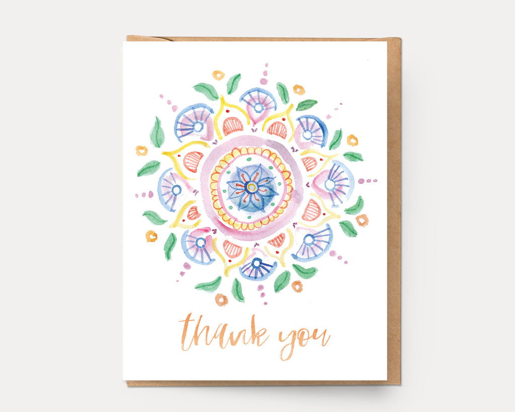 Thank You Mandala #5 | Greeting Card M-111