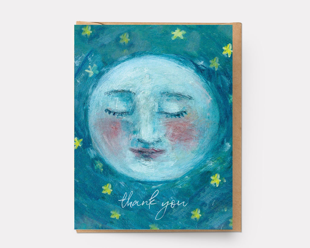 Thank You Moon | Greeting Card T-101