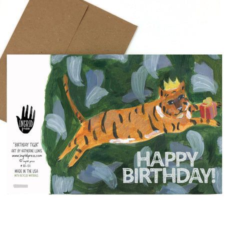 Tiger Birthday | Greeting Card BD-101