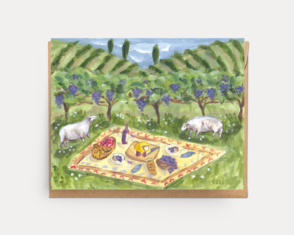 Vineyard Picnic | Greeting Card U-126