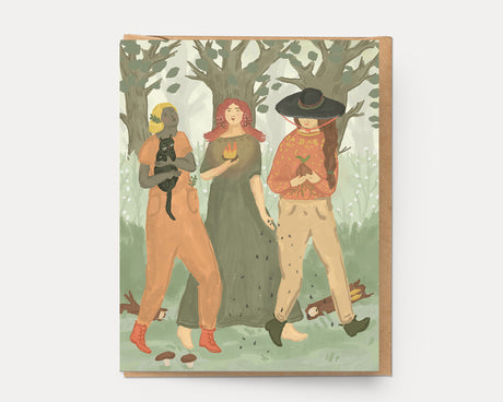 Walking Sisters | Greeting Card U-129 Everyday