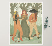 Walking Sisters | Art Print Poster - Wholesale