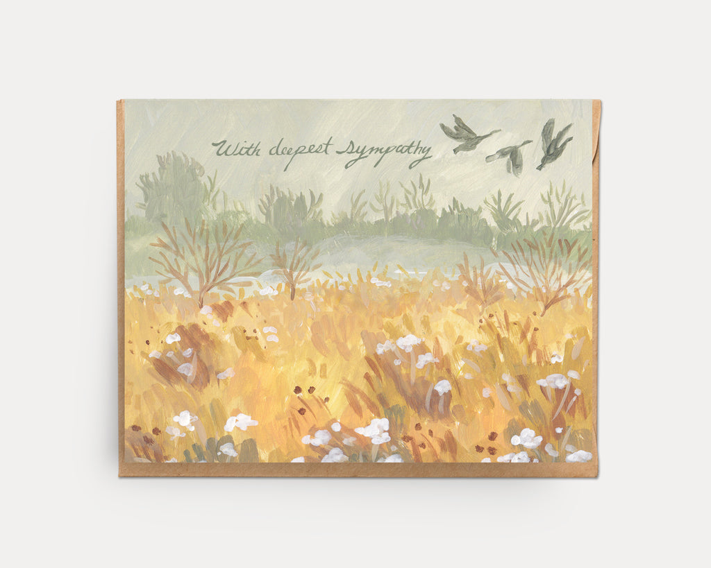 Wild Geese Sympathy | Encouragement Greeting Card E-106