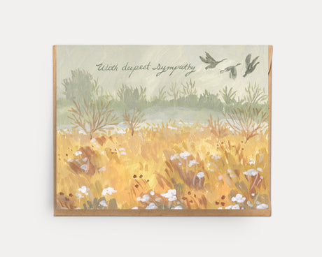Wild Geese Sympathy | Greeting Card E-106