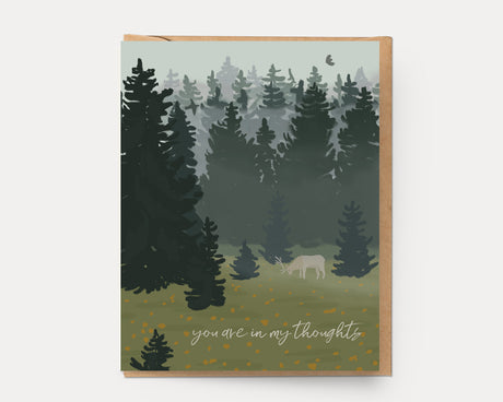 Elk in the Mist | Greeting Card E-105 Encouragement
