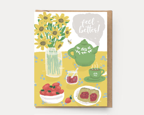 Feel Better Table | Greeting Card E-104 Encouragement