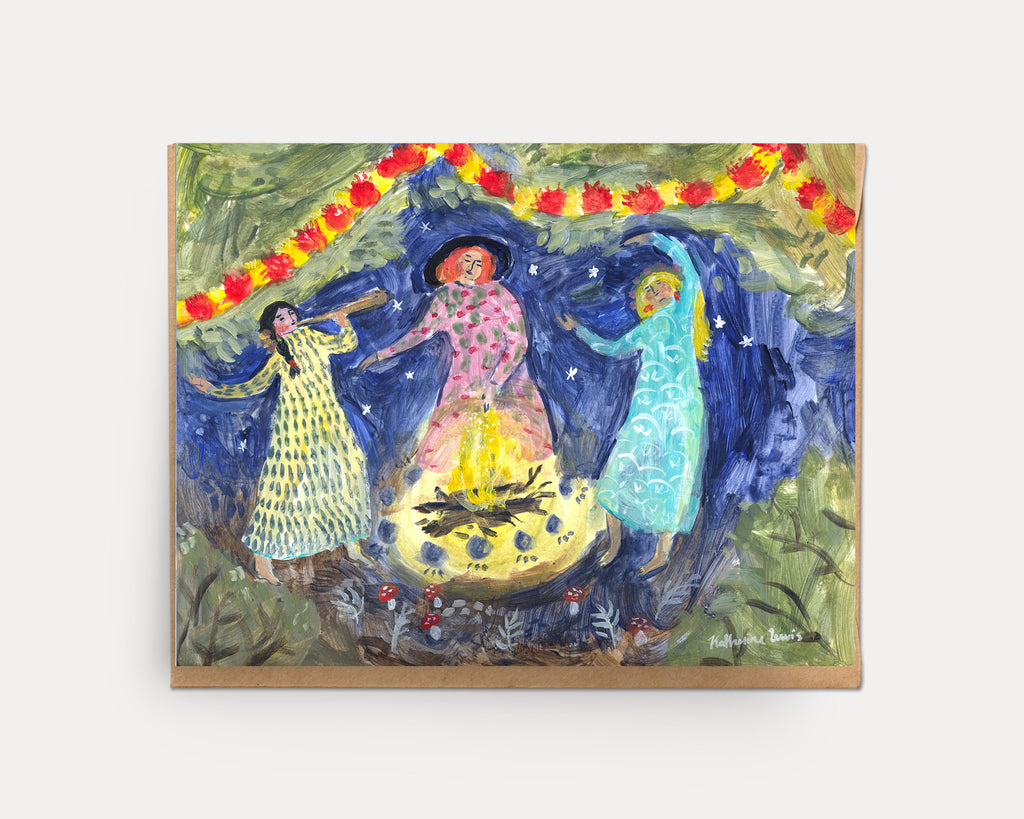 Goddess Bonfire | Greeting Card U-128