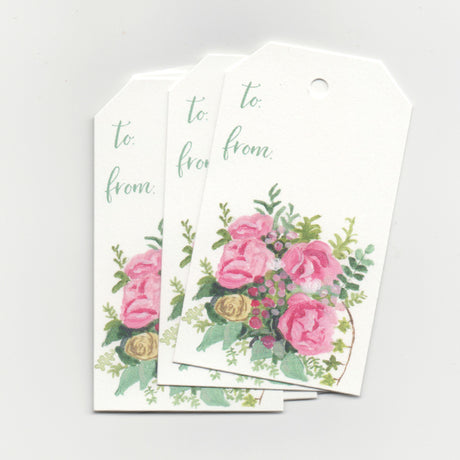 Pink Floral | Gift Tags