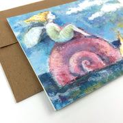 Snail Rider | Greeting Card U-102