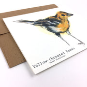 Yellow-throated Vereo  | Greeting Card