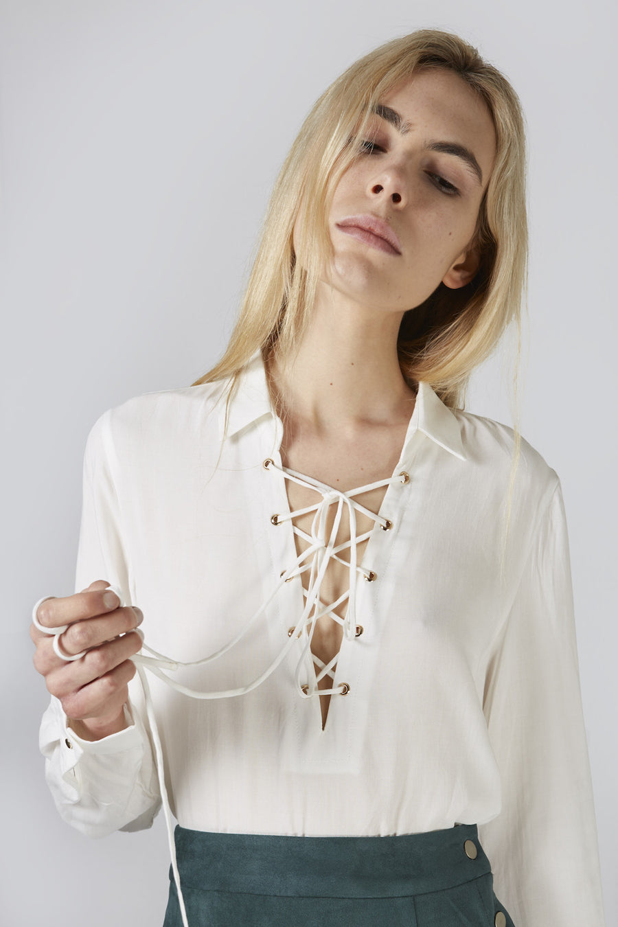 Camilla Lace-Up Top