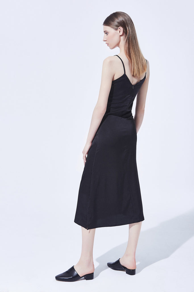 Teresa Slip Dress - Black