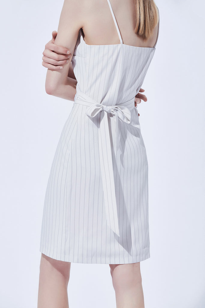 Lorinda Wrap Dress - White