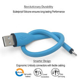 Short Silicone Lightning Data Cable - tnext