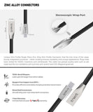 Micro USB Flat Zinc Alloy Cable - tnext