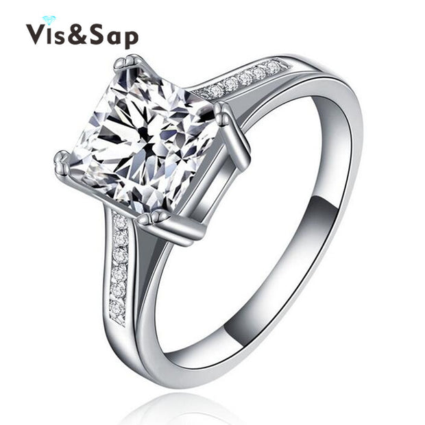 Square stone ring anillos de compromiso wedding engagement Rings For