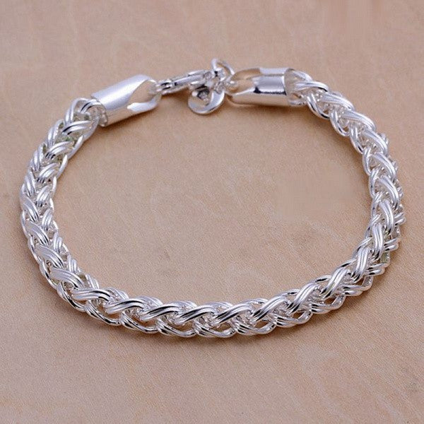 Creative twist circle chain  silver plated  bracelets new listings
