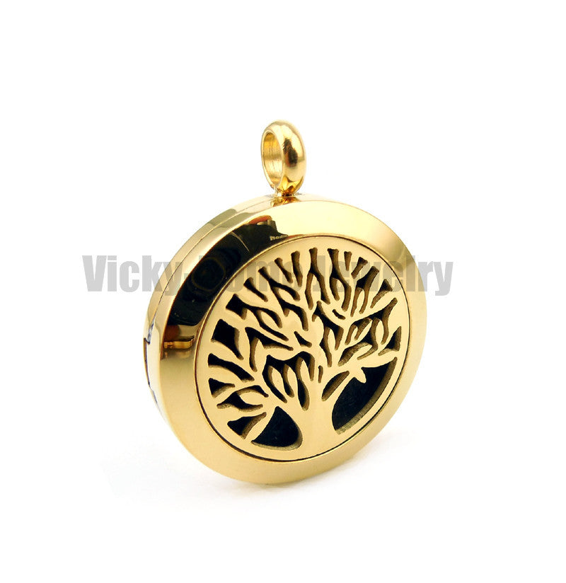 Round Silver Tree of Life (20-30mm) Aromatherapy / Essential Oils