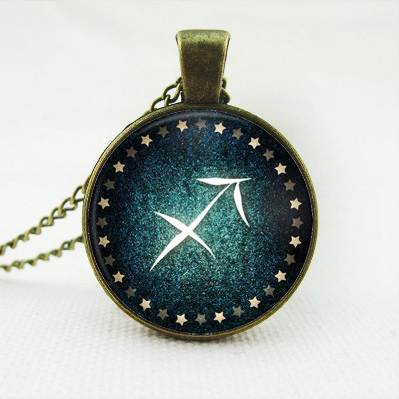 Chinese Zodiac Necklaces & Pendants Milky Way Glass Pendant,Silver