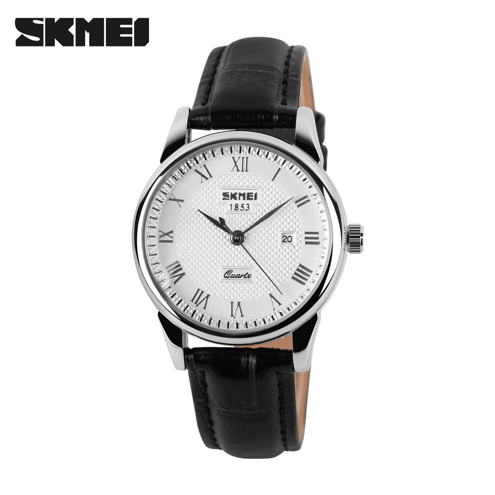 Couple Wristwatches Women Men Leather Strap Watches Lovers Girl